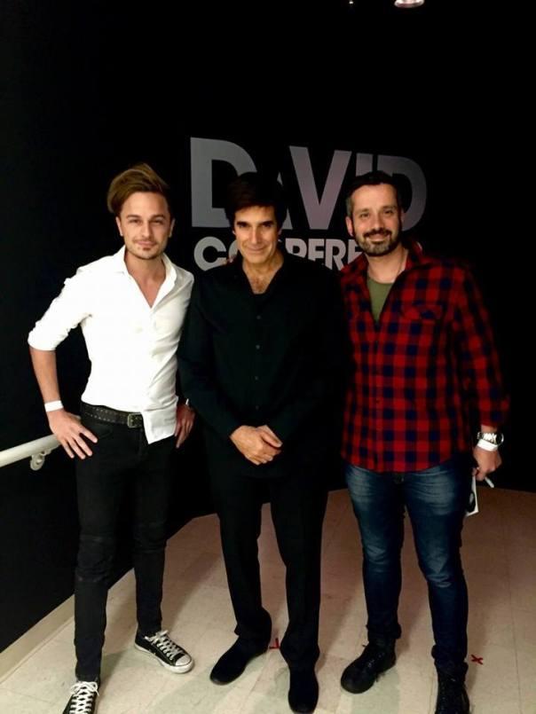 Octubre de 2015, Juliano y Amador en una reunión exclusiva con uno de los ilusionistas más destacados de la historia de la magia.