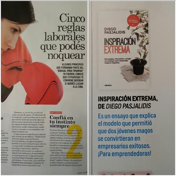 INSPIRACION EXTREMA en Revista COSMOPOLITAN de Junio 2016